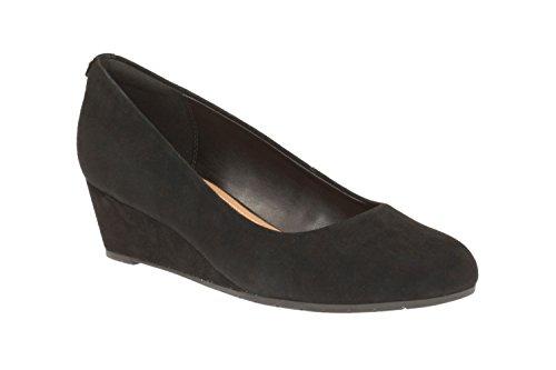 Clarks 261201543 02, Scarpe col tacco donna Nero