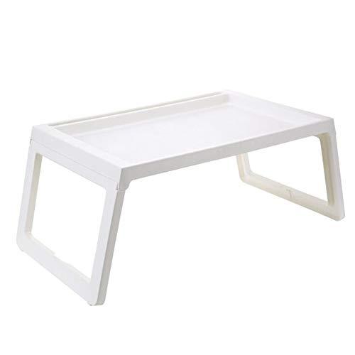 Shamdon Home Collection Laptop-Tablett mit klappbaren Beinen, Knietisch für Sofa, Couch, Boden, Bett, Frühstück, Schreiben, 55 x 36 cm weiß