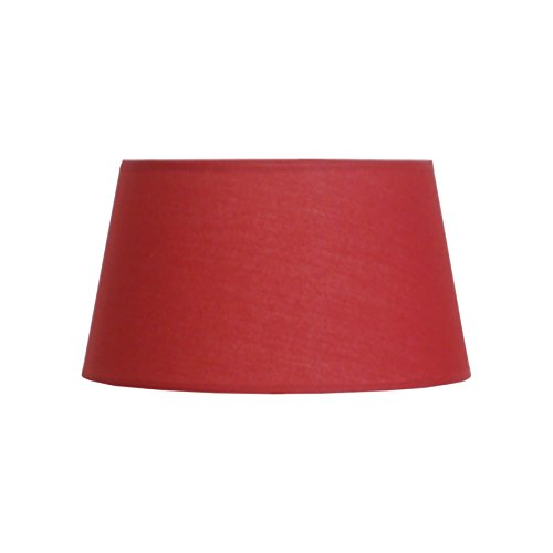 Abat-jour du Moulin CTBTTKAZA4562 Abat-jour lampe KAZA Ø45 en Polycoton coloris Rouge bague E27 Fabriqué en FRANCE Texture/Structure métalique époxy Blanc