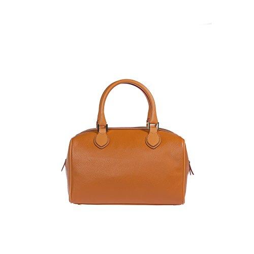 Trussardi Femme Sac à main, Boston Bag in Dollar véritable et cuir lisse, 100% Calf - 32x20x20 cm Orange