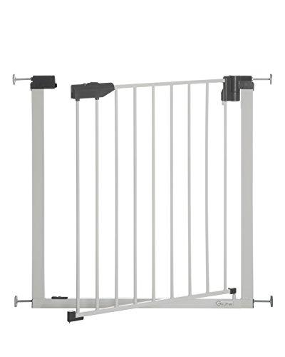 Geuther - Treppenschutzgitter ohne Bohren Easylock light + (4765+), Metall, Türschutzgitter zum...