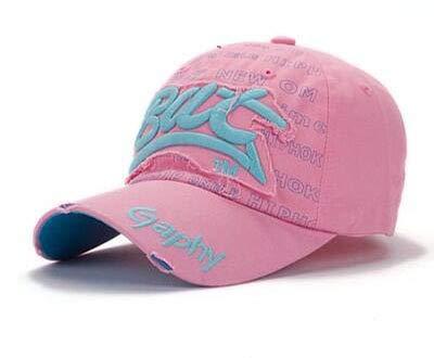 Imagen de qqyz2323 snapback hats  béisbol sombreros hip hop ajustado sombreros para hombres mujeres  curvado brim sombreros daño cap rosa