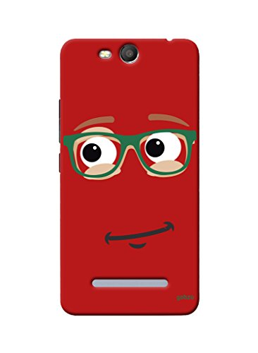 Gobzu Printed Hard Case Back Cover for Micromax Canvas Juice 3 Q392 - Red Smiley  available at amazon for Rs.299