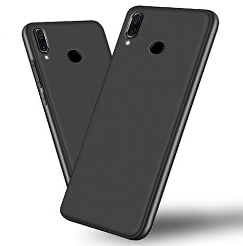 Huawei Honor Play Hülle, Beetop Schutzhülle Handyhülle Weiche Silikon TPU Rückschale Case Cover für Huawei Honor Play - Matt Schwarz