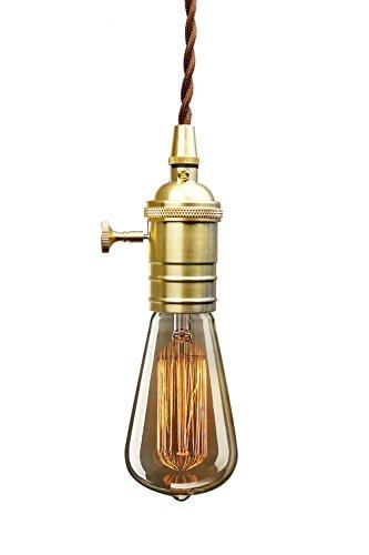 PureLume ampoule vintage laiton antique nostalgie pendeleuchte suspension avec ampoule edison 40 w