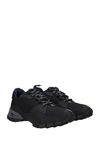 Zapatillas De Deporte Prada Para Hombre - Cuero Engomado (4e3147) Ue Negro