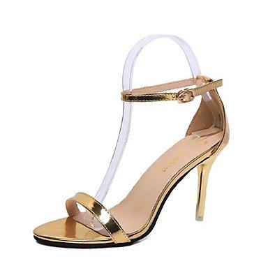 LFNLYX Donna Sandali Primavera Estate altri PU Casual Stiletto Heel altri Bianco Nero Argento Oro Silver
