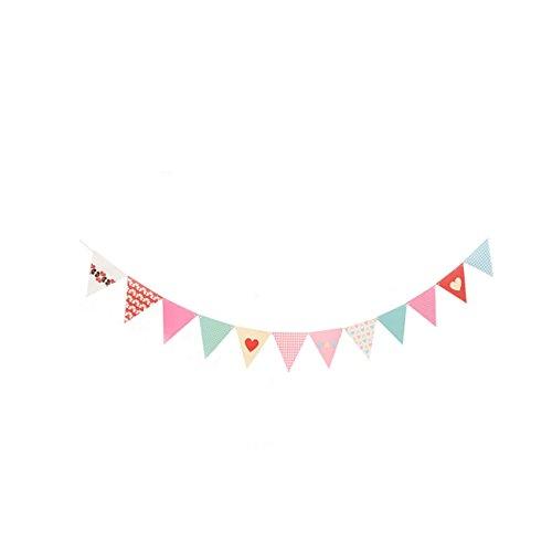 VEVICE Bunte Punkte und Streifen Wimpelbanner Flaggen Party Regenbogen Faden Vorhang Banner Hängende Dekorationen für Festival, Geburtstage, Partys, Events, Zubehör, bunt, B