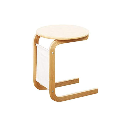 HQCC Tabelle Runde Holz Side End Lampe Kaffee Lagerung Zeitung Buch Zeitschriften