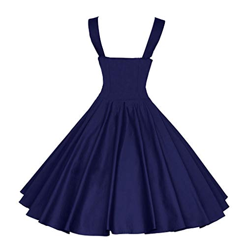3/4 Puff Ärmel Pullover (Damen Vintage Polka Dot 3/4 Ärmel Kleid Mit Retro-Print Und Hepburn Etuikleid Vintage Style Kleid Große Swing Puff Rock)
