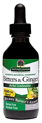 Natures Answer Bitters with Ginger (60ml Alcohol Free Promotes Digestion) by Nature`s Answer