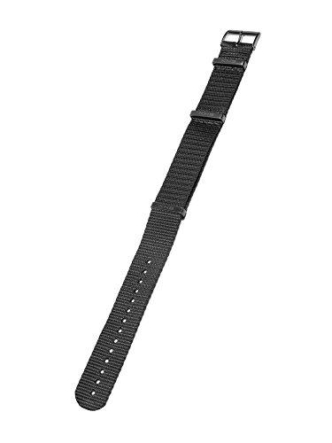 KHS Natoband Black, Ersatzarmband, KHS.EBNB.20