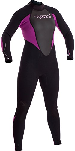 Typhoon 2016 Ladies Storm 3/2mm Wetsuit Iris/Black 250881 Sizes- - Ladies 14