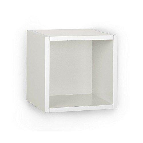 A10 Shop Cubox Storage unit- Open type, 30 cm wide x 30 cm high (Single) - White