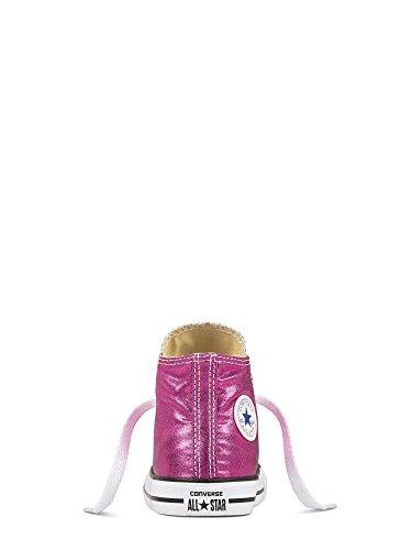 Converse - Converse Ctas Hi Magenta Chaussures de Sport Petite Fille Fucsia Multicolore