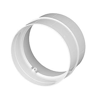 Verbinder Lüftungsrohr ABS Rundrohr Ø 150 Abluft-Rohr Awenta 150 mm , PVC