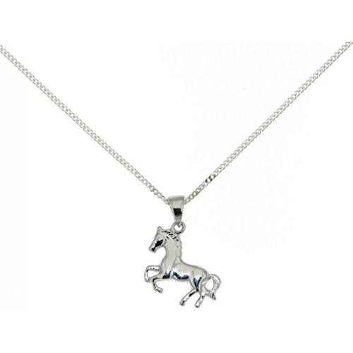 Derby Anhänger Pferdchen Pferd Pony massiv echt Silber mit Kette - Sonderpreis 23758