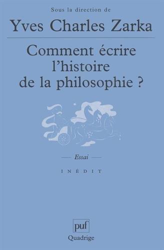 Comment écrire l'histoire de la philosophie ?
