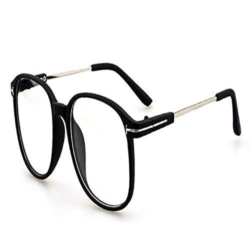 XCYQ Brillengestell Frauen Transparente Brillenfassung Für Weibliche Männer Quadratische Lesebrille Brillenfassung Klare Linse Retro Fake Kein Grad Eyewear, E