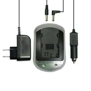 subtel® Chargeur pour (Panasonic VW-VBG070 / VW-VBG130 / VW-VBG260 Panasonic VDR-D50 / VDR-D51 / SDR-H90 / SDR-H80) - incl. Alimentation + câble chargeur voiture - chargeur batterie appareil photo, adaptateur secteur, station de charge accu, chargeur auto