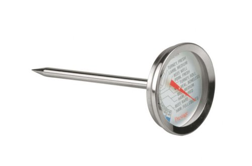 Prestige  Main Ingredients Stainless Steel Meat Thermometer - Silver