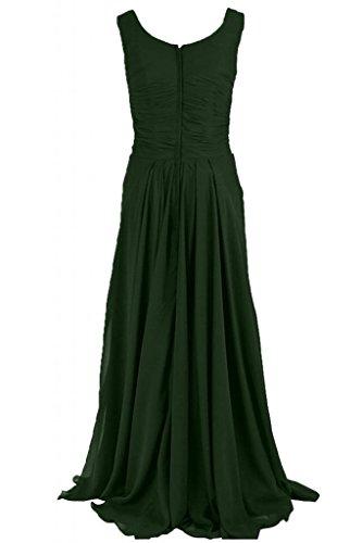Sunvary maniche lunghe guaina abito da sera elegante Chiffon, con scritta Mother of the Bride Dark Green