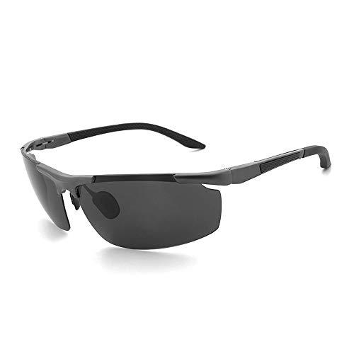 Easy Go Shopping Angeln Reiten im Freien Fahren Klassische Mode Aluminium Magnesium Sonnenbrillen Sport Polarisierte Sonnenbrillen Sonnenbrillen und Flacher Spiegel (Color : Grau, Size : Kostenlos)