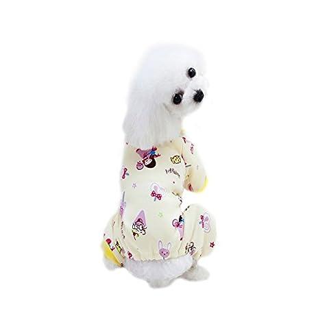 Hund Pajamas, Kiao Haustier Welpen Schlaf Kleidung Hemd Reizender Baumwolloverall (Cotton Schlaf Kleidung)