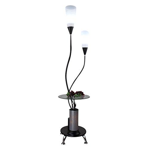 KXBYMX KXBYMXNachttischlampe Stehlampe, moderner Lampenständer im minimalistischen Stil [Energieklasse A +++] (Farbe : Weiß Lampshade)