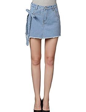 Sentao Estate Donna Vintage Jeans Shorts Gonna Denim Hot Pants Pantaloncini Corti
