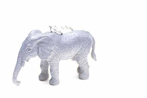 Animali collana Miniblings 80 cm elephantidae timando Zoo elefanti africani grigio - Zoo Africano