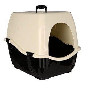 Trixie 40132 Katzentoilette Bill 1 S mit Haube, 40 × 42 × 50 cm, schwarz/creme