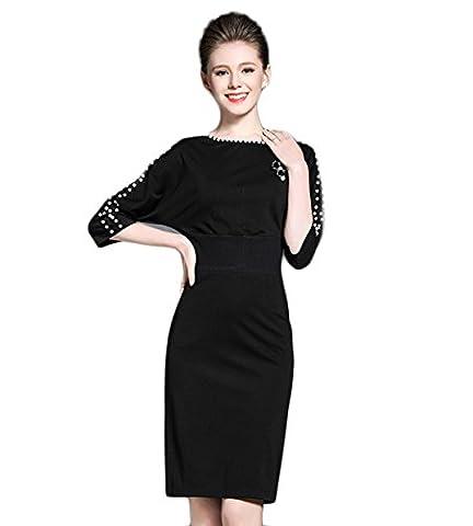 Good dress La couleur de robe perlée,Noir,S