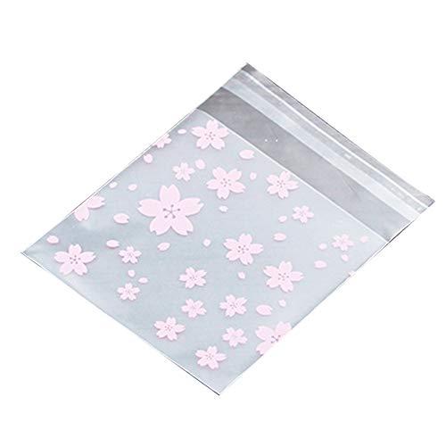 ackungstasche Kekse zum Backen von Weihnachten Candy Aufkleber Celofan Plastikbeutel Celofan 8 * 10+3cm ()
