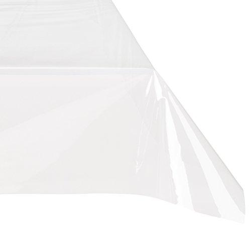 durchsichtige tischdecken Décor Ligne 1710281 Nappe Cristal Uni Transparent 140 X 240 Cm - 1710281, Tischdecke Transparente Rechte, 140 X 240 Cm, Transparent, Unifarben 15/100, Ohne