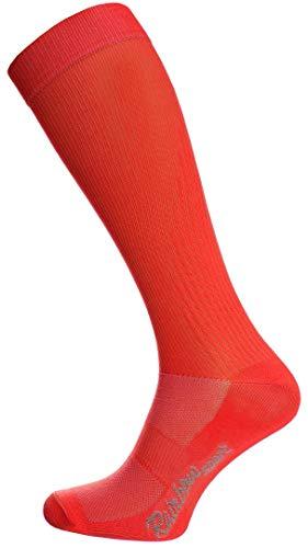 Rainbow Socks - Damen Herren Sportliche Kniestrümpfe - 1 Paar - Rot - Größen: EU 39-41 -