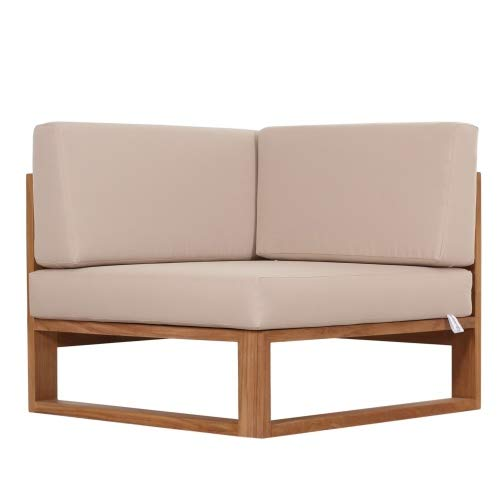 Outdoor Sofa Molveno Eckteil mit Auflagen Teak -