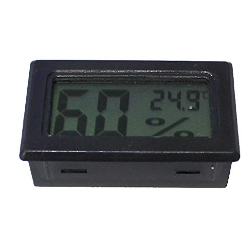 Fangfeen Startseite LCD Digital Display Mini elektronische Thermometer-Temperatur-Meter-Messgerät Temp Hygrometer Built-In