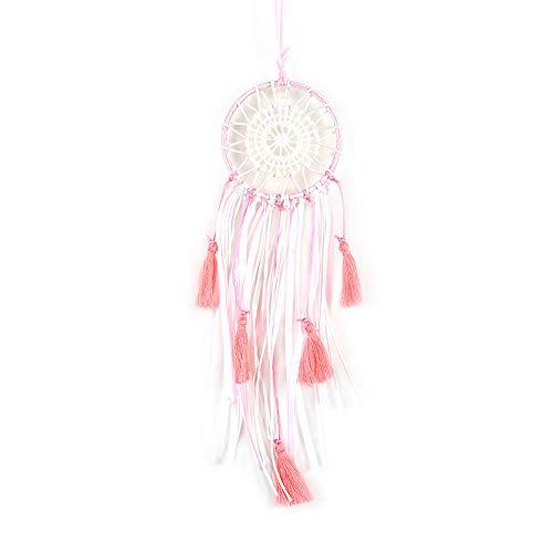 HUISN Dream Catcher New Pink Fringe Ribbon Ausschnitt Mini Hängen Hängen An Der Tasche Dekorationen Mini Arbeit Fein Qualität Gute Größe 20 * 6 cm