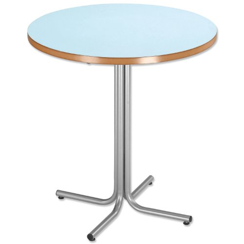 Cheapest Trexus Bistro Table Silver-effect Frame Dia700xH755mm Light Blue on Amazon