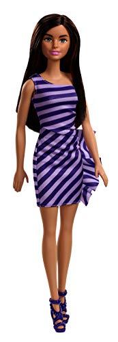 Barbie Glitz Doll (Multicolor Stripe Ruffle Dress)