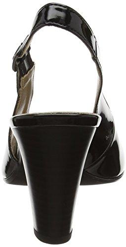 Gabor Fashion, Sandales Bout Ouvert Femme Noir (Noir 77)