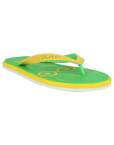 Duke Men's Green, Yellow & White Coloured Eva Slippers 7  available at amazon for Rs.250