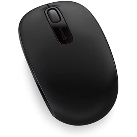 Microsoft Wireless Mobile Mouse 1850 - Ratón inalámbrico, compatible con Windows 7/8, color negro