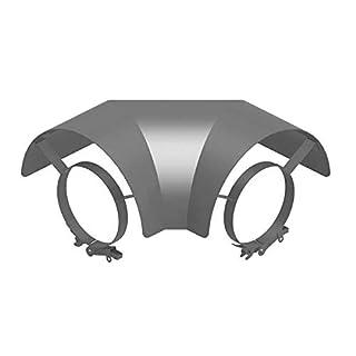 Ø 150 mm Ofenrohr Strahlungsschutz Bogen 90° liegend Gussgrau