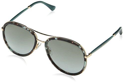 Jimmy Choo Damen TORA/S YE 1M5 57 Sonnenbrille, Grün (Hvngrn Gdcpp/Grey Sf),