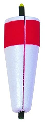 Betts B80W-3RW Billy Boy Bobbers 2-Inch Popping Slotted Weighted Hard Foam Float, Red and White Finish by BILLY