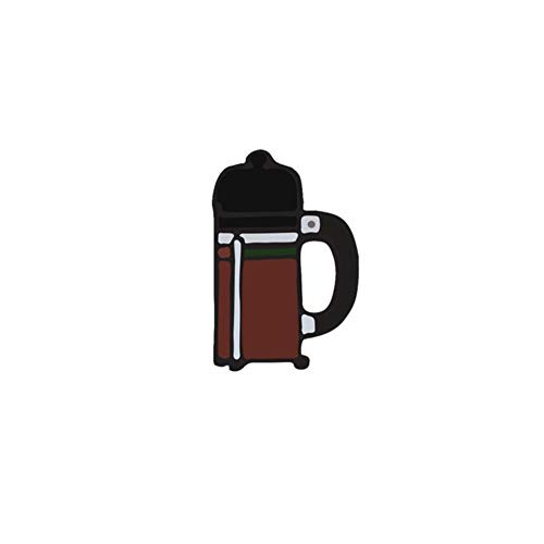 COPP Kreative 10 Stil Ccoffee Maschine Brosche Für Frauen Cappuccino Tasse Metall Emaille Pin Jacken Revers Pin Hemd Tasche Männer Abzeichen Schmuck, Stil 1