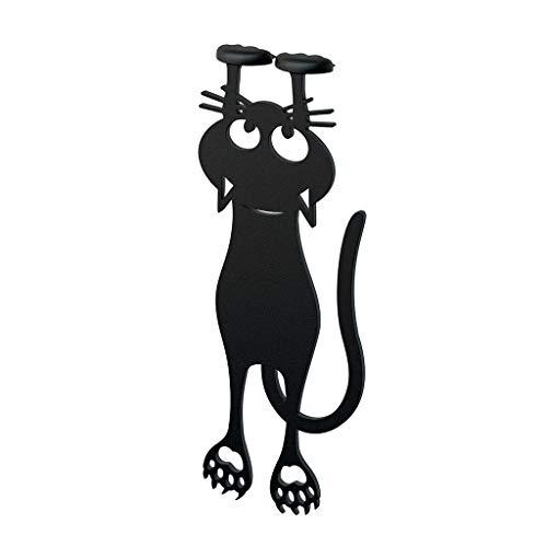 balvi Lesezeichen Curious Farbe schwarz Katzenform 12cm Kunststoff/Nylon