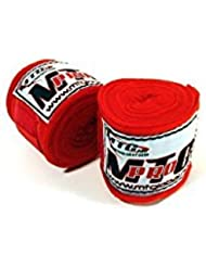 MTG Pro 2.5m Elasticated Hand Wraps - Red